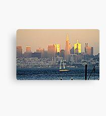 San Francisco Sunset... Canvas Print