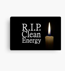 rip clean energy typo candle Canvas Print
