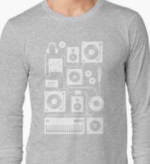 Four To The Floor - Teal Long Sleeve T-Shirt