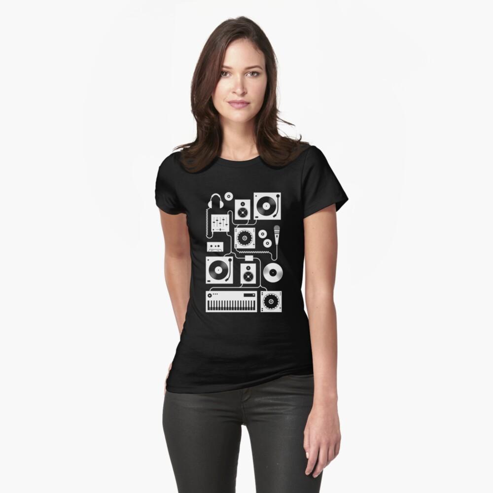 Cuatro al piso - Teal Camiseta entallada