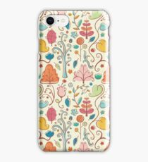 Plant Pattern Color 3 iPhone Case/Skin