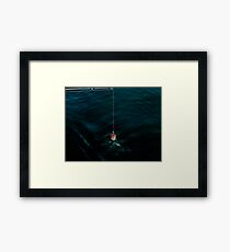 His dying wish was to catch one more fish. Framed Print