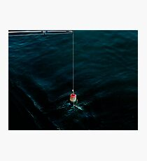 His dying wish was to catch one more fish. Photographic Print