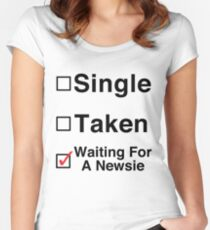 Waiting for a Newsie Women's Fitted Scoop T-Shirt