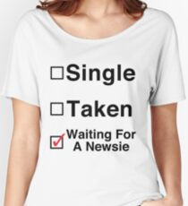 Waiting for a Newsie Women's Relaxed Fit T-Shirt