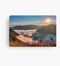 Sunrise over Beckler River Valley Canvas Print