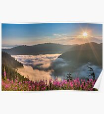 Sunrise over Beckler River Valley Poster