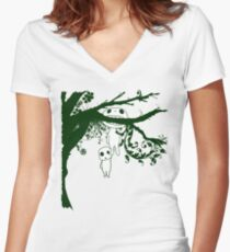 Kodoma Tree Spirit Women's Fitted V-Neck T-Shirt