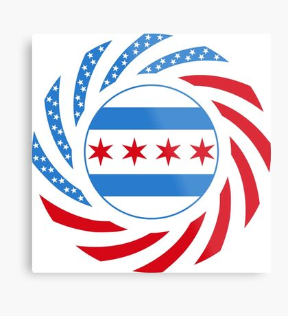 Chicago Murican Patriot Flag Series Metal Print