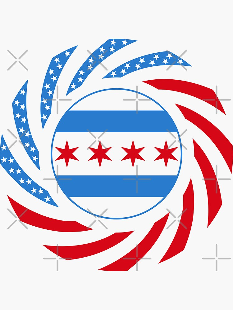 Chicago Murican Patriot Flag Series by carbonfibreme