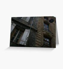 Bordeaux facade Greeting Card