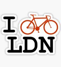 "I ""ride"" London Sticker"