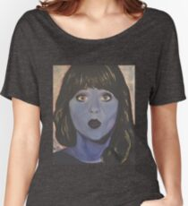 Zooey Deschanel goes Violet Women's Relaxed Fit T-Shirt