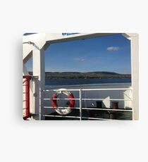 From the Foyle Ferry, Ireland Canvas Print