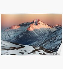 Longs Peak in Winter - Estes Park, CO Poster