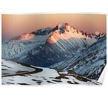 Longs Peak in Winter - Estes Park, CO Poster