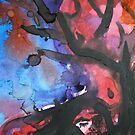 Fallen Original Watercolor Painting by ChrisCiolli