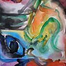 Partial: Dream in Color Original Watercolor by ChrisCiolli