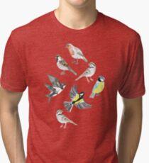 Illustrated Birds Tri-blend T-Shirt