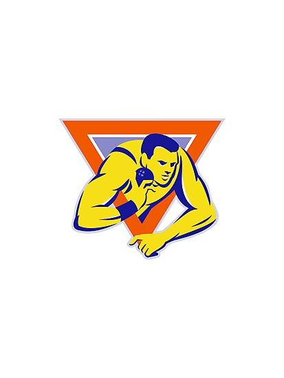 shot put throw track and field athlete by retrovectors