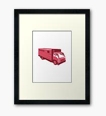 horse truck trailer retro Framed Print