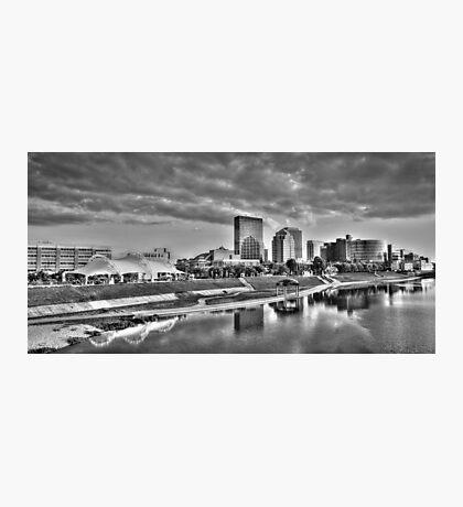Dayton Skyline - Black and White Photographic Print