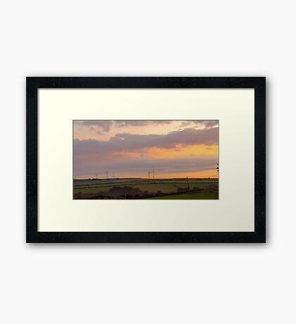 Twilight wind Framed Print