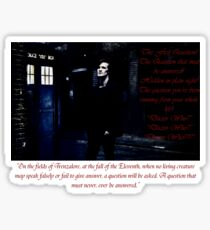 Matt Smith as the Eleventh Doctor Sticker