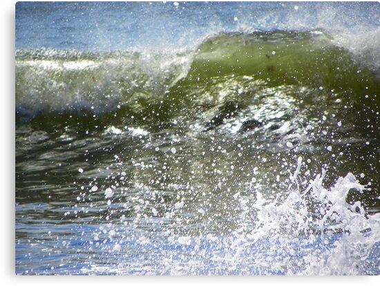 Crashing Wave - Up Close by MaryinMaine