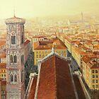Flight over Florence by kirilart
