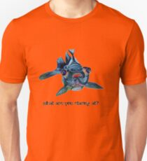 Blackmoor Goldfish And Text What Are You Staring At?  Unisex T-Shirt
