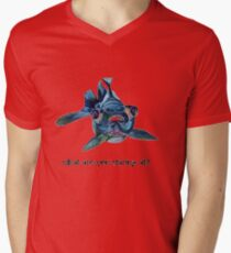 What Are You Staring At? Mens V-Neck T-Shirt