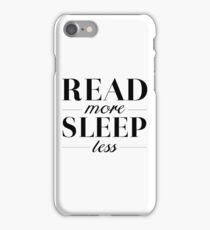 Read/Sleep iPhone Case/Skin