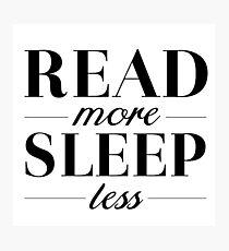 Read/Sleep Photographic Print