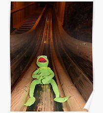 Frog Kermit Slip Mine Salt Mine Poster
