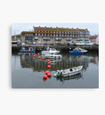 The Harbour at West Bay in Dorset Canvas Print
