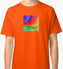 Abstract Rainbow Background Classic T-Shirt