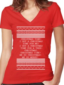 Britta Christmas sweater Quote Women's Fitted V-Neck T-Shirt