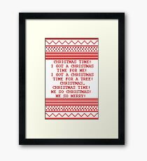 Britta Christmas sweater Quote Framed Print