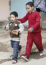 Brothers - Tenerhir Morocco by Debbie Pinard