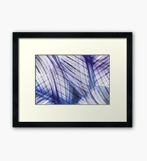 Nature Leaves Abstract in Blue and Purple Framed Print
