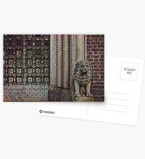 Vntage stone lion Postcards
