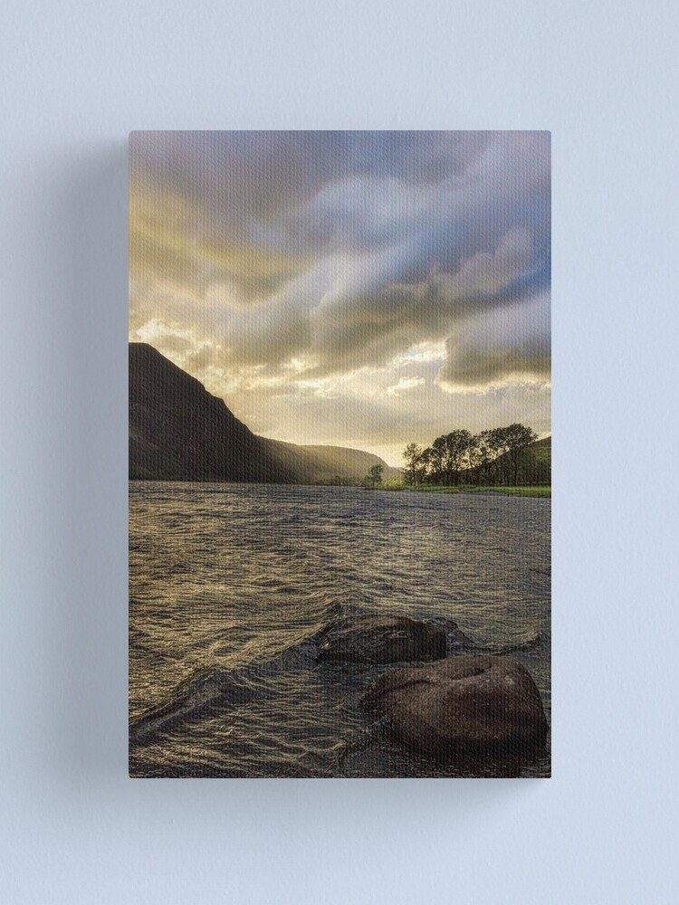 Alternate view of Llyn Cwellyn sunset  Canvas Print