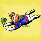 Jack Russell Lucky Dog by offleashart
