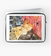 Löwen König Collage Laptoptasche