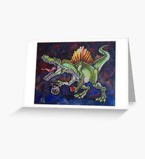 Caffeinosaurus Greeting Card