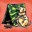 Golden Retriever Dog Eat Dog by offleashart