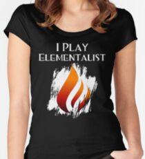 I Play Elementalist Women's Fitted Scoop T-Shirt