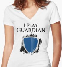I Play Guardian Women's Fitted V-Neck T-Shirt