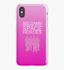 Big damn intergalactic space heroes. (iPhone case/pink) iPhone Case/Skin
